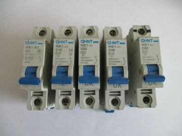 CHINT NB1-63 C4 C6  C10 C20 C32 C40 C50 10KA SINGLE POLE MCB CIRCUIT BREAKERS